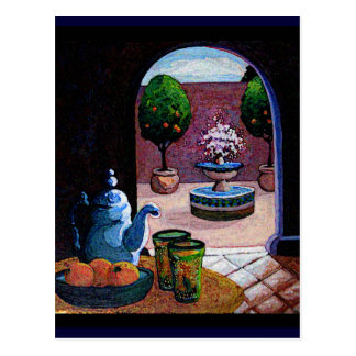 Moroccan mint tea postcard