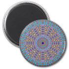 Moroccan Mosaic Kaleidoscope Magnet