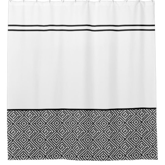 Moroccan Pattern Black And White Shower Curtains