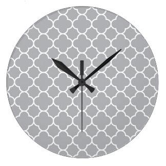 Moroccan pattern large clock