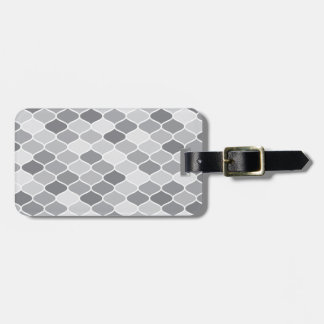 Moroccan pattern luggage tag