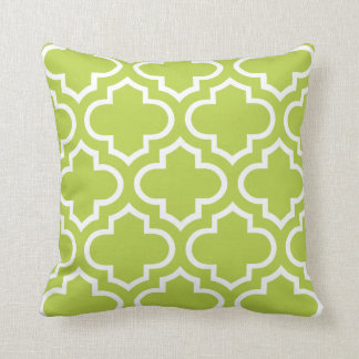 Moroccan Pattern Pillow in Citrus Green