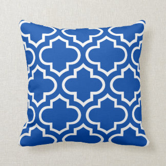 Moroccan Pattern Pillow in Cobalt Blue