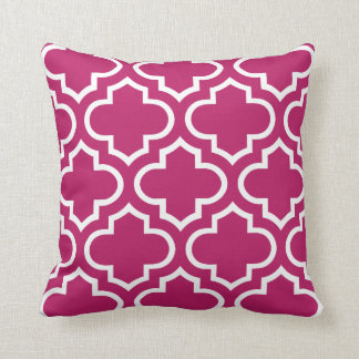 Moroccan Pattern Pillow in Madder Carmine Cushions