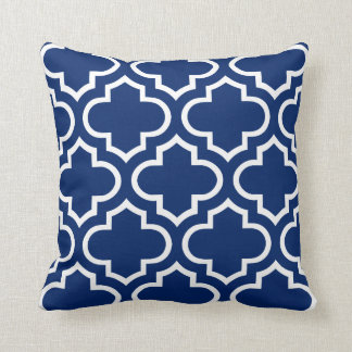 Moroccan Pattern Pillow in Royal Blue