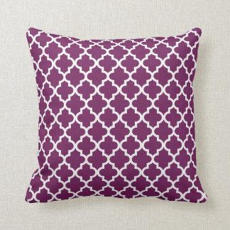 Moroccan Pattern | Plum Cushions