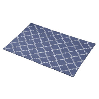 Moroccan Pattern   Royal Blue Placemat