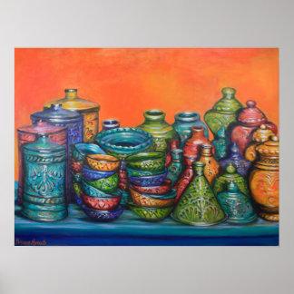 Moroccan Pots Poster