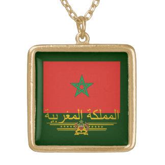 """""""Moroccan Pride 2"""" Square Pendant Necklace"""