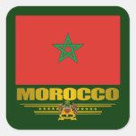 """""""Moroccan Pride"""" Square Stickers"""