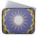 Moroccan purple blue computer sleeve