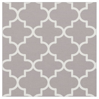 Moroccan Quatrefoil Patterned Fabric