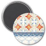 Moroccan Quatrefoil Tile Floral Pattern Watercolor