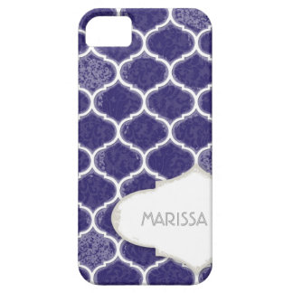 Moroccan Quatrefoil Trellis Antique Grunged Damask Case For The iPhone 5