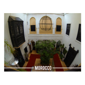 Moroccan Riad, Marrakesh Morocco Postcard