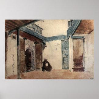 Moroccan Sketchbook #1 by Eugène Delacroix Poster