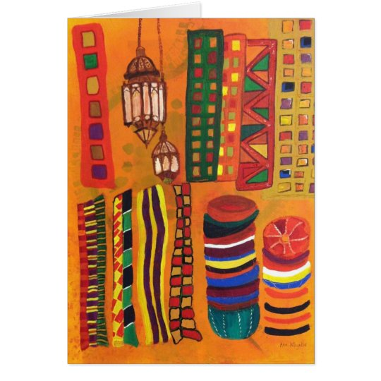 """Moroccan Souk"" notecard"