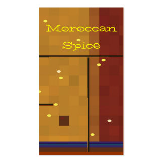 Moroccan spice pack of standard business cards