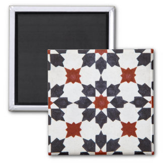 Moroccan Star Shape Tile Pattern Square Magnet