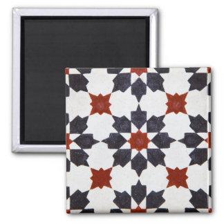 Moroccan Star Shape Tile Pattern Square Magnet