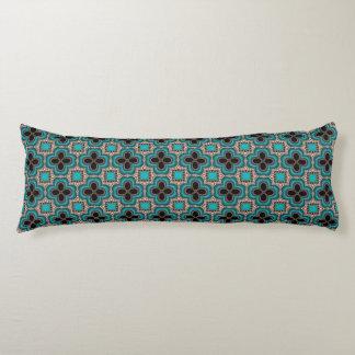 Moroccan style geometric pattern body pillow