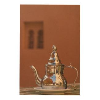Moroccan Teapot Wood Print