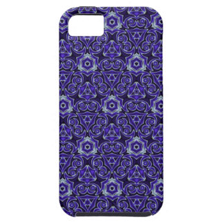 Moroccan Textile Pattern Blue iPhone 5 Covers