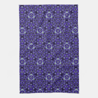 Moroccan Textile Pattern Blue Tea Towel