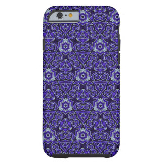 Moroccan Textile Pattern Blue Tough iPhone 6 Case