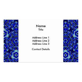 Moroccan Textile Pattern Tiled Symmetry Business Card Template