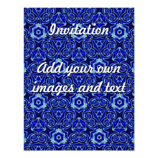 Moroccan Textile Pattern Tiled Symmetry Custom Invitations