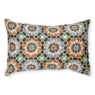 Moroccan tile design dog bed