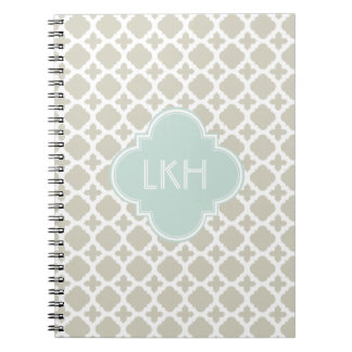 MOROCCAN TILE MONOGRAM NOTEBOOK