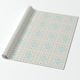 MOROCCAN TILE MONOGRAM WRAPPING PAPER