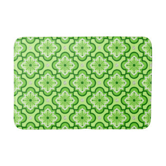 Moroccan tile pattern - Lime Green Bath Mat