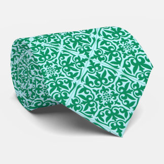 Moroccan tile - turquoise and aqua tie