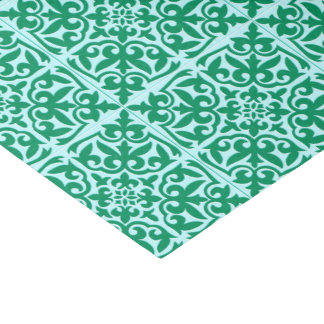 Moroccan tile - turquoise and aqua tissue paper