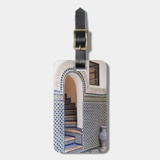 Moroccan Tiled Doorway Luggage Tag
