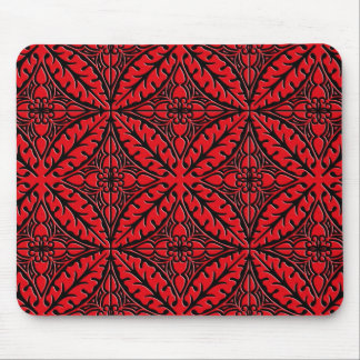 Moroccan tiles - dark red and black mousepads