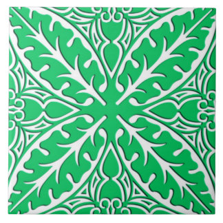 Moroccan tiles - jade green and white