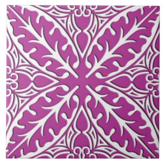 Moroccan tiles - orchid and white