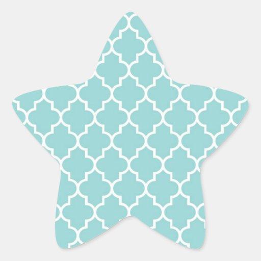 Moroccan Trellis, Latticework - Blue White Sticker
