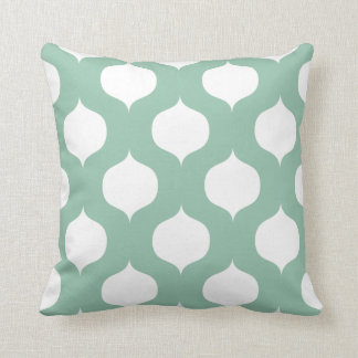 Moroccan Trellis Pattern Pillow in Sage Green