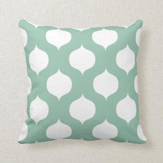 Moroccan Trellis Pattern Pillow in Sage Green Cushion