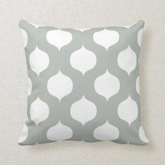 Moroccan Trellis Pattern Pillow in Silver Gray