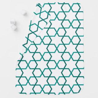 Moroccan weave pattern baby blanket