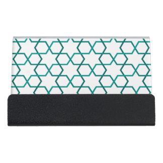 Moroccan weave pattern desk business card holder
