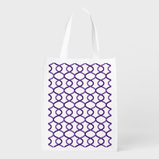 Moroccan weave pattern reusable grocery bag