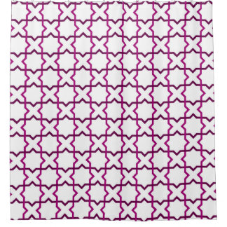 Moroccan weave pattern shower curtain