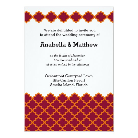 Moroccan wedding card
